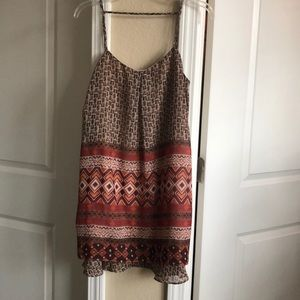 Flowy boho mini dress